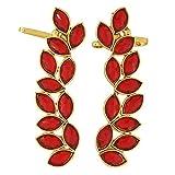 Maayra Charming Red Gold Stone Crystals ...
