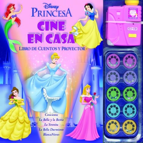 Princesas/Princesses: Cine En Casa. Libro De Cuentos Y Proyector/Home Theater. Story book and projector (Cine En Casa Disney)