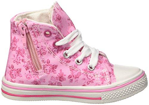Regal Academy Mädchen Canvas Hi Hohe Sneaker Rosa