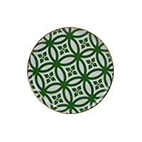 Porland Morocco Düz Tabak Desen1 Yeşil 20cm, Porselen