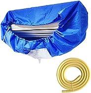 غطاء غسيل مكيف الهواء يثبت على الحائط، غطاء واقي لتنظيف مكيف الهواء من الغبار مع حزام شد ل 1-3 بي