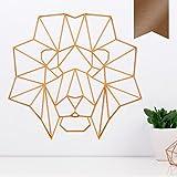 KLEINLAUT 3D-Origamis aus Holz - Wähle Ein Motiv & Farbe - Löwenkopf - 30 x 28,2 cm (L) - Kupfer