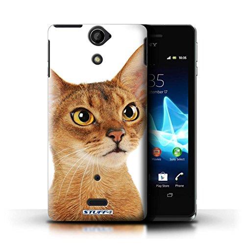 Kobalt® Imprimé Etui / Coque pour Sony Xperia V/LT25i / Bleu britannique conception / Série Espèces de chats Abyssinien