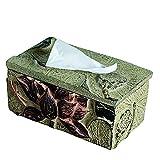 ZHIJINHE Tissue Box, Lotus-Stil, Harz, Kunsthandwerk, Kreatives Zuhause, Wohnzimmer, Schlafzimmer, Ornament, 26 * 15 * 12cm