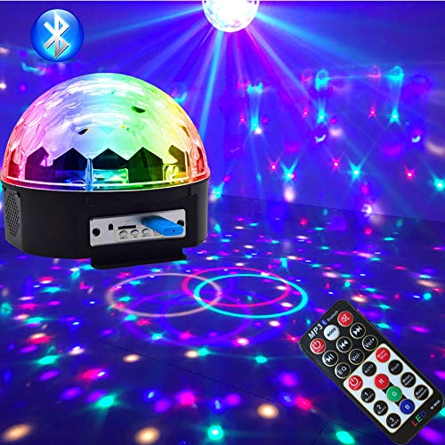 Farbe Kostüm Wechselnden - Discokugel, LED Discokugel Kinderparty Disco Lichteffekte 18x18x15CM mit Fernbedienung Projektor Beleuchtung für Party Wohnzimmer Spielzeug Feier