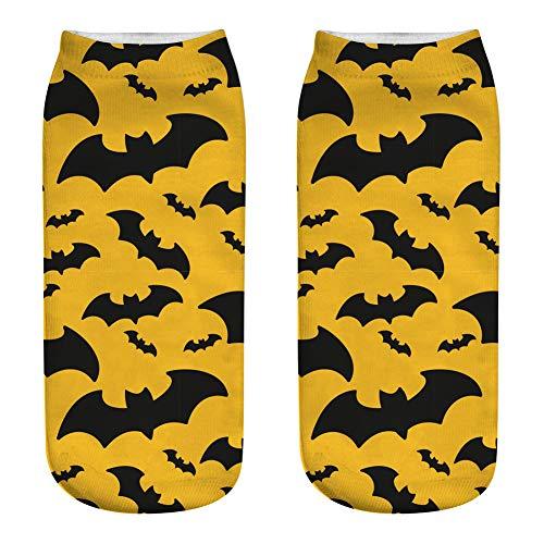 Paul03Daisy 5PCS Halloween Fun Socken Für Frauen Mädchen Horror Bat Castle Kürbis 3D Bedruckte Sock Passende Socke Für Die Vier Jahreszeiten, Die Festliche Atmosphäre Zu Verbessern