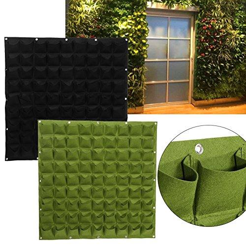 Taschen Pflanztaschen Wandbehang Gartenarbeit Pflanzer Outdoor Indoor Vertikale Greening Grow Taschen Flower Growing Container ( Farbe : Schwarz ) (Leichte Indoor-pflanzer)