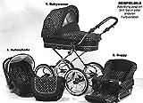 Wunderschöner Retro Kinderwagen Babywagen 3in1 giullietta (K104) - 4