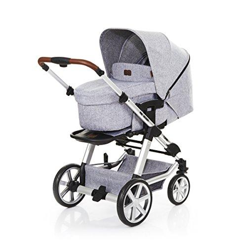 ABC Design Turbo 4 - Kombikinderwagen - Komplett-Set 2in1 - inkl. Babywanne & Sportwagen (Graphite Grey)