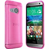 moodie Silikonhülle für HTC One Mini 2 Hülle in Pink - Case Schutzhülle Tasche für HTC One Mini 2 (Rutschfest)