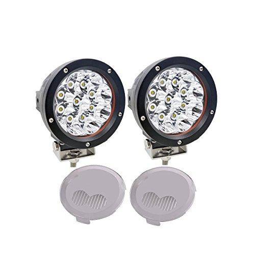 Lightronic 2 STÜCKE 5 zoll 45 Watt Chevy Led Nebelscheinwerfer kit Offroad Led-leuchten Led Pods Spot Beam Scheinwerfer Blub 4x4 Lkw + Combo Abdeckung (X-beam Combo)