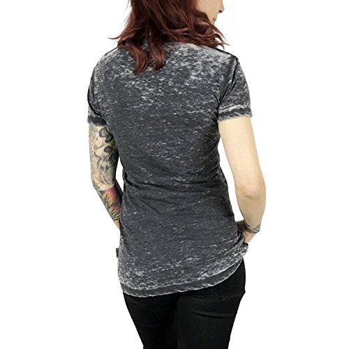 Yakuza Femme Hauts / T-Shirt FxOff Burnout Noir