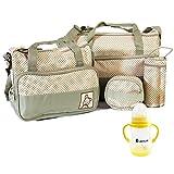 Lantelme 7104 Babytasche und Babyflasche Set - Baby Utensilienset für Zuhause oder auf Reisen