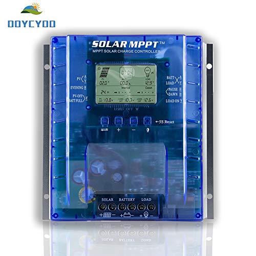 24v Solar Charge Controller (OOYCYOO 40A Solar Laderegler charge controller MPPT automatische Erkennung 12V/24V,Solarregler mit USB-Port Display für AGM-Gel versiegelte Batterie mit und Ladezeit-Einstellung(Aufgerüstet Version))