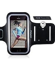 Mpow Schweißfest Handy Armtasche für iPhone 5/5S/5C/SE, Oberarmtasche mit Schlüsselhalter, Verlängerungsband und reflekltierendes Band, Sportarmband hülle für Wandern Reiten Laufen Jogging Workout