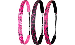 Ivybands® | Das Anti-Rutsch Haarband | 3-er Pack | Pink is the New Black Edition | One Size | IVY709 IVY721 IVY718