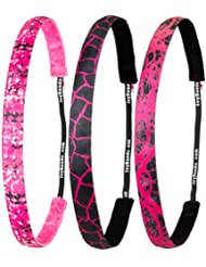 ivybands Rose IS THE NEW Black Edition Lot de 3antidérapant Bandeau cheveux ivy709ivy721ivy718