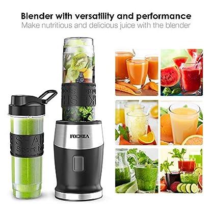 Mixer-Smoothie-Maker-Fochea-Standmixer-500-Watt-Mini-Smoothie-Mixer-Multifunktion-Smoothiemaker-mit-2-Sport-Flasche-BPA-frei-Tritan570ml-fr-Shakes-und-Smoothie