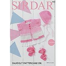 Sirdar 4920 Crochet patrón bebé Cardigan capó patucos y manoplas en Sirdar ...