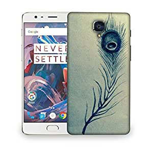 Snoogg Feather Abstract Designer Protective Back Case Cover For OnePlus 3