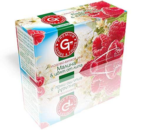 Linden Raspberry Tea Bags 20 | GT Series Soothing Tea 30g