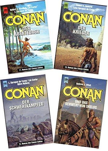 Conan Zyklus Band 11 - 13 - 14 und 4 (Schwert Krieger Elf)