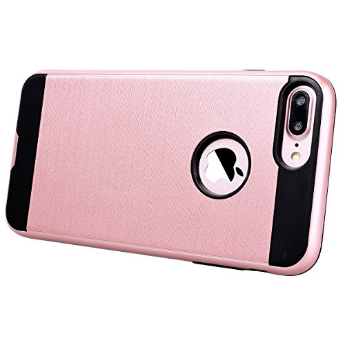 Coque iPhone 6S / iPhone 6, HB-Int Housse de Protection Plastique Hard Back Case + Souple TPU Bumper Etui Ultra Thin Antichoc Cas Couverture pour Apple iPhone 6 / 6S - Rouge Rose Or
