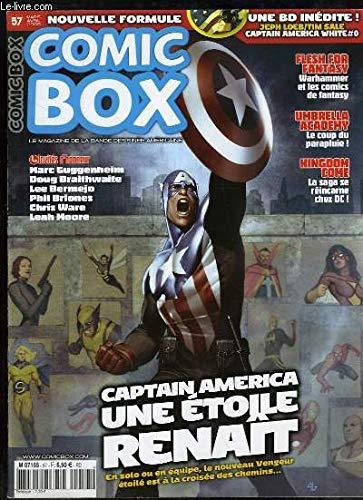 Comic Box, Hors-Série N°57 : Captain America, une étoile renait - Umbrella, le coup du parapluie - Kingdom Come, la saga se réincarne chez DC ...