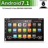 Mejor WiFi modelo 7.1 Android Quad-Core 6.95' Full pantalla táctil universal de coche DVD reproductor de CD GPS 2 DIN estéreo GPS navegación libre cámara