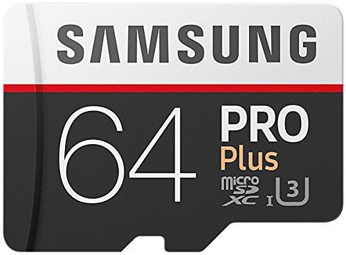 Samsung PRO Plus Micro SDXC 64GB bis zu 100MB/s, Class 10 U3 Speicherkarte (inkl. SD Adapter) (64gb Sdxc Samsung)