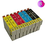 8x Kompatible Patrone als Ersatz für 8 Tinten 2x T1281 2x T1282 2x T1283 2x T1284 Tintenpatronen T1285 für Epson Stylus Office BX305F BX305FW BX305FW Plus SX425W SX440W SX445W SX430W SX438W SX420W SX435W S22 SX125 SX130 sx230 sx235 Druckerpatronen - mit CHIP