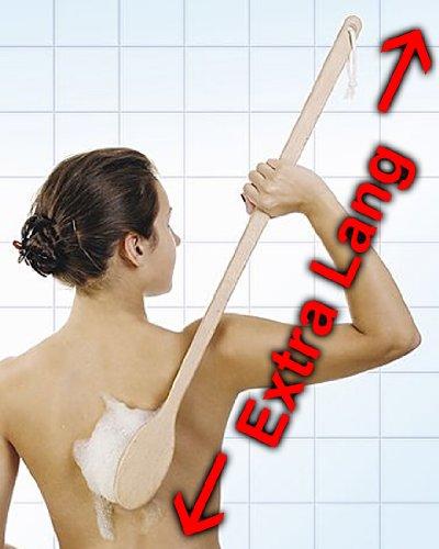Preisvergleich Produktbild Rückenbürste EXTRA LANG 80 cm,  Große Badebürste aus Holz mit langem Stiel