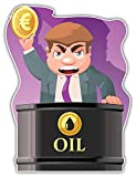 SkyBug Oil Trader with Euro Coin Bumper Sticker Vinyl Art Decal for Car Truck Van Window Bike Laptop