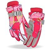 Fengzio Fengzio Skihandschuhe für Kinder/Herren/Damen wasserdichte und Winddichte Winterhandschuhe Warm Sporthandschuhe Snowboard Handschuhe für Outdoor-Sport in Winter Fahrradhandschuhe Warme Handschuhe