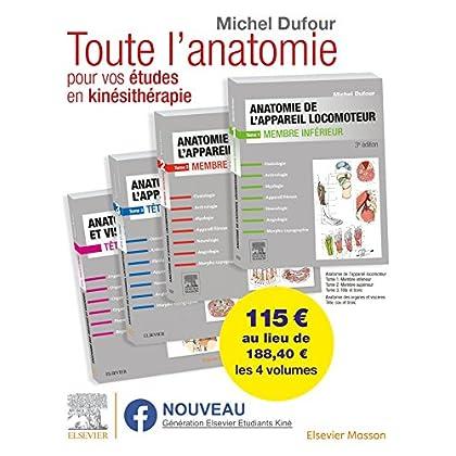 Anatomie de l'appareil locomoteur. Anatomie des organes et des viscères. Pack des 4 tomes: Anat Organes&Visceres