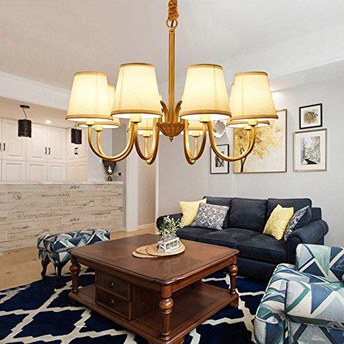 5151BuyWorld Lampe Luxuxleuchter Moderner Beleuchtungsraum Für Lebende Goldene Leuchter Leuchte Top Qualität {8 Lichter} - Golden Bronze 8 Licht