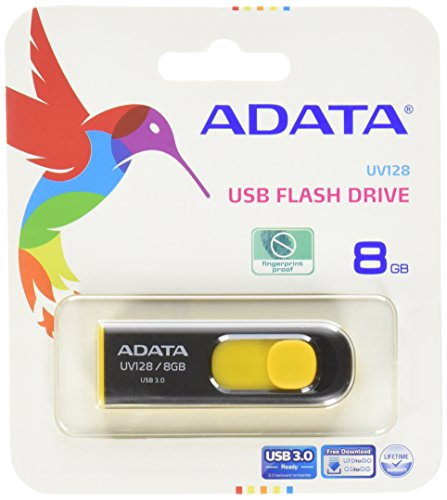 ADATA DashDrive UV128 8GB 8GB USB 3.0 Nero, Giallo USB