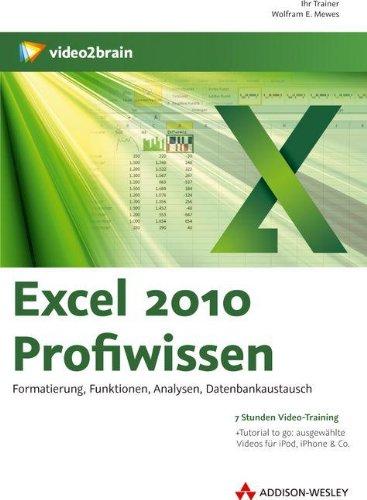 Excel 2010 Profiwissen (PC+MAC-DVD)