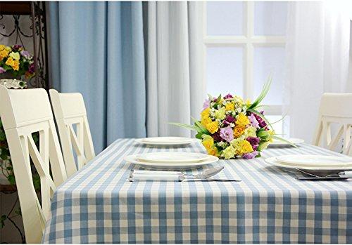xsongue tischdecke Tischtuch Tablecloth Rechteckig Weiß Gestreifte Rosa Wasserdichte Tischdecke Leinen Zu Hause Stoff Stoff Desktop Dekoration Küche Picknick-Party-Tisch