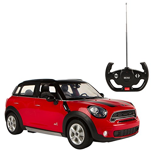 Rastar - Mini Countryman, coche teledirigido, escala 1:14, color rojo (ColorBaby 75990)