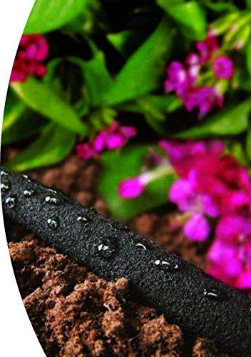 Tropfschlauch / Perlschlauch / Bewässerungsschlauch 15m, schwarz mit Armaturen