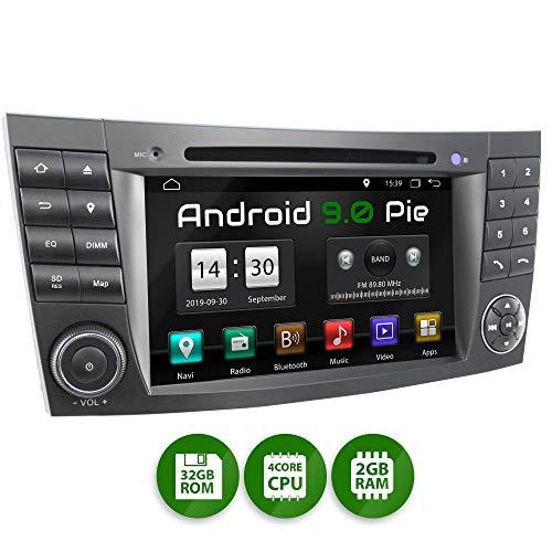 XOMAX XM-08ZA Autoradio passend für Mercedes W211 W219 W463 mit Android 9.0, 4Core 2GB ROM+32GB RAM, GPS Navi, DVD, CD I Support: WiFi 4G, DAB+, OBD2 I Bluetooth, 7Zoll / 18cm Touchscreen, USB, SD
