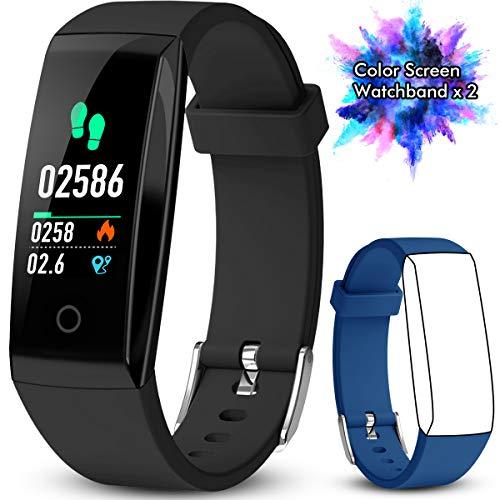 50cb04d8c7b8 Pulsera de Actividad Inteligente Pantalla a Color Impermeable IP67  Pulsómetro con Monitor de Ritmo Cardíaco Monitor
