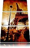 Eifelturm in Paris3-Teiler Leinwandbild 120x80 Bild auf Leinwand, XXL riesige Bilder fertig gerahmt mit Keilrahmen, Kunstdruck auf Wandbild mit Rahmen, gänstiger als Gemälde oder Ölbild, kein Poster oder Plakat