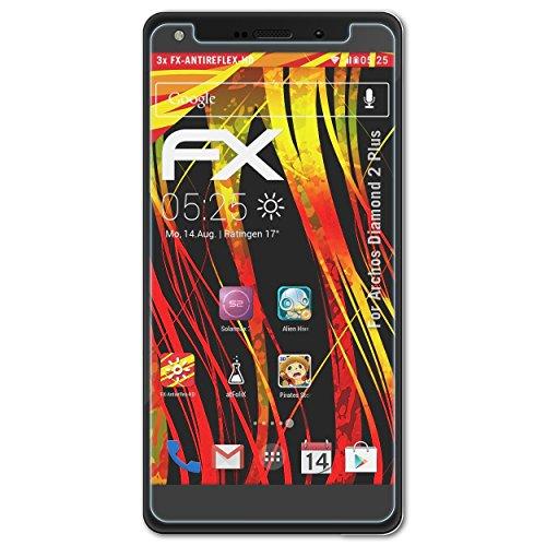 atFolix Schutzfolie kompatibel mit Archos Diamond 2 Plus Bildschirmschutzfolie, HD-Entspiegelung FX Folie (3X)