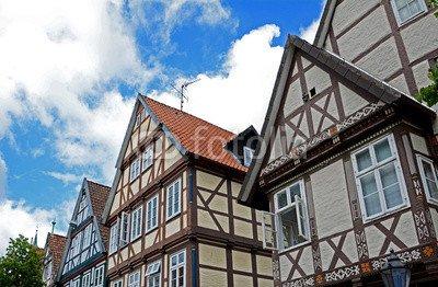 """Alu-Dibond-Bild 120 x 80 cm: """"Celle, Altstadthäuser"""", Bild auf Alu-Dibond"""