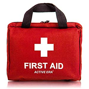 Erste Hilfe Set – 90-teiliges Premium Erste-Hilfe-Set – enthält Sofort Kühlpacks, Augenspülung, Rettungsdecke für zu…