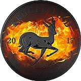 KRUGERRAND Burning Ruthenium 1 Oz Silver Coin 1 Rand South Africa 2017