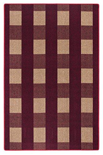 andiamo-1100439-poils-courts-de-chemin-de-dalia-tapis-100-polypropylene-rouge-200-x-135-x-07-cm