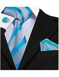 Barry. Wang Tie bolsillo cuadrado Gemelos Rayas corbatas de seda